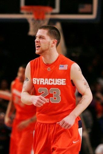 Devendorf was jaw-jacking as usual Wednesday night