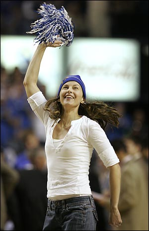 Judd hasn't done much cheerleading in Rupp Arena this season.