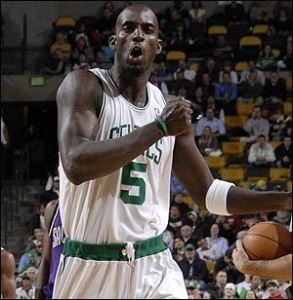 KG scored 10 points in his return from injury. (Pic via nbaloud.com)