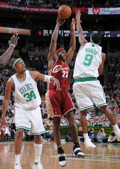 James struggled against Pierce's defense