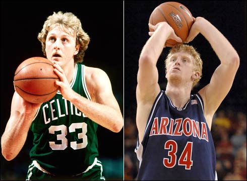 It's gotta be the hair: Budinger won't be the next Larry Legend, but should have a long NBA career.